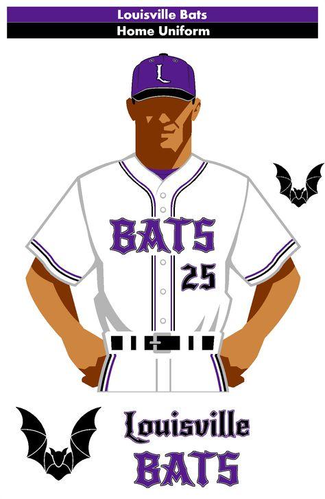 New Design For The Louisville Bats Aaa Affiliate Of The Cincinnati Reds Home Uniform Mlb Uniforms Baseball League Baseball