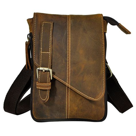 sale retro crazy horse genuine natural leather casual multi funciton bag  mens mini shoulder bag  mini  messenger  bag 4fc1e93af0b94