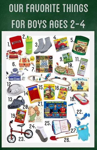 Our Favorite Things For Boys Ages 2 4