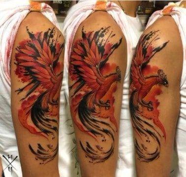 Simbolicos Disenos De Tatuajes De Fenix Para Hombres Phoenix Tattoo Design Phoenix Tattoo Cool Tattoos