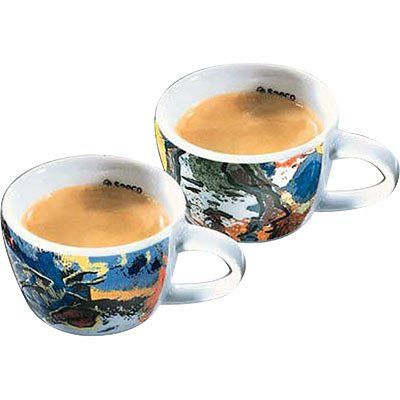 Saeco 109011 Romeo And Juliet Set Of 2 Cuccino Cups Fancy