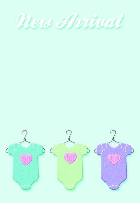 #Baby Shower #Invitation Free Printable New Baby Invitation