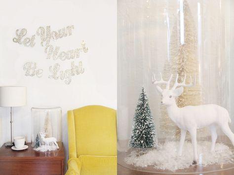 DIY Christmas lyrics glitter banner