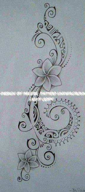 Tatouage Fleur De Tiare Polynesien Signification Arcangel Miguel