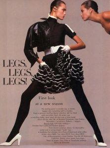 Yasmin Le Bon & Christy Turlington - Spring International Report - N. Photo Steven Meisel US Vogue January 1987