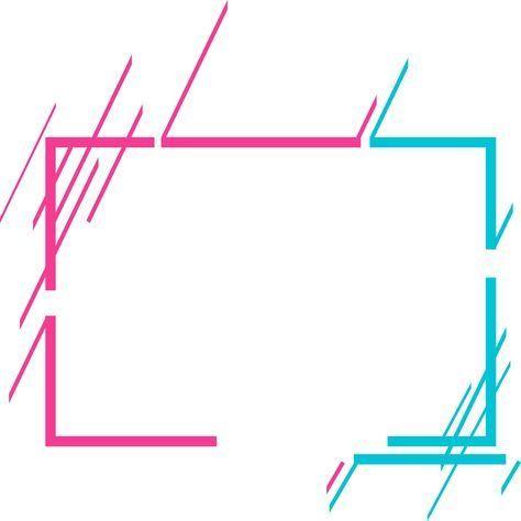 Simple Abstract Border Geometry Purple Geometry Flat Png