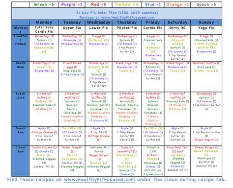 Tasha Stong (tstong3) on Pinterest - 21 day fix spreadsheet
