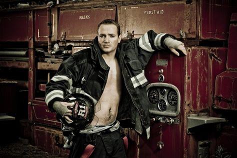 Bangor Firefighter Calendar Our Buddy Butchie Playing Dress Up