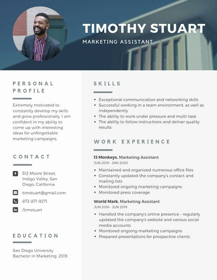 Resume With Picture Template Best Of Customize 1 079 Resume Templates Online Canva Infographic Resume Resume Template Free Resume Templates
