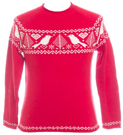 Fair Isle Pattern and Birds. Ugly Christmas Sweatshirt from ...