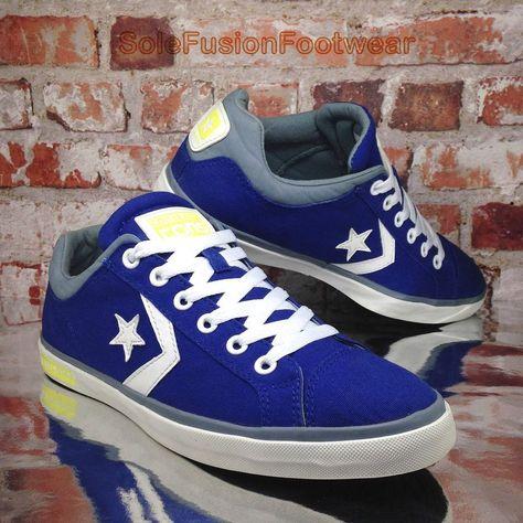 7ca5680fd112 Converse Mens All Star Street Shoes Blue sz 10 Trainers Cons Deck Sneakers  EU 44