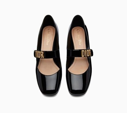 f8a1a27b62e Dior Baby-D ballet pump in black dotted Swiss - Flat Shoes Dior ...