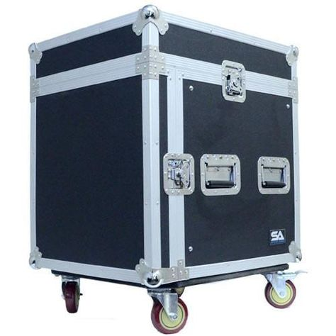 10 Space Rack Case With Slant Mixer Top Audio Rack Road Cases