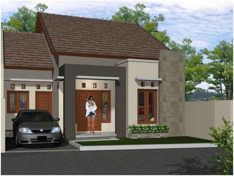 ide desain rumah minimalis tampak depan dengan batu alam