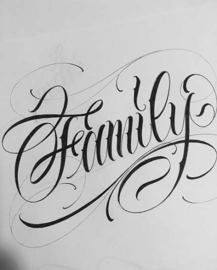 60 New Ideas For Tattoo Designs Words Fonts Calligraphy Tattoo Family Tattoos Word Tattoos