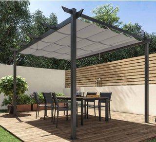 Pergola Autoportante Omega Aluminium Gris Anthracite 8 31 M En 2020 Pergola Amenagement Jardin Terrasse Piscine Idees De Patio