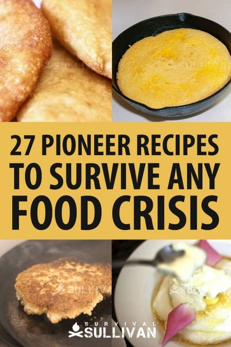 These pioneer recipes are not only delicious, they can be made using basic ingredients from your garden or from your stockpile. #survival #pioneer #recipe