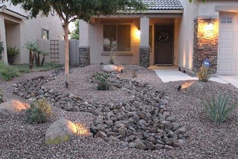 Low Maintenance Front Yard Landscaping Front Yard Desert Landscape Design With Rock Desert Landscape Design Large Backyard Landscaping Large Yard Landscaping