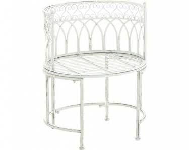 Clp Metall Gartenstuhl Jingle Eisen Stuhl Mit Armstutze Design Nostalgisch Antik Form Oval Shabby Look Sitzhohe 43 Cm We Gartenstuhle Stuhle Gartenmobel