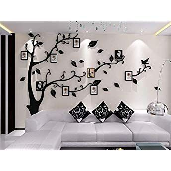 3D Acrylique Photos Arbre Autocollant Mural Amovible Living Room Decor À faire soi-même MURALE DECALS