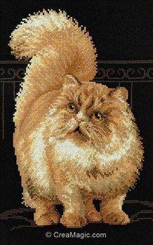 Kit Riolis A Broder Au Broderie Modele Point De Croix Reference R1152 Dimension Du Modele Brode 26 X 38 Cm K Cross Stitch Animals Cat Cross Stitches Animals