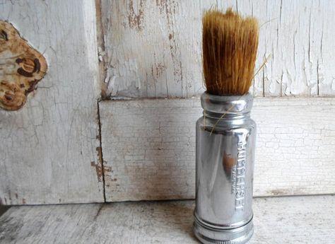 Mens Shaving Brush, Masculine decor for the bath.  ;P