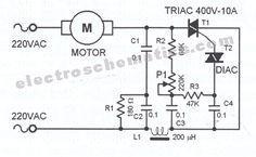 Ac Motor Speed Controller Circuit Con Imagenes Esquemas