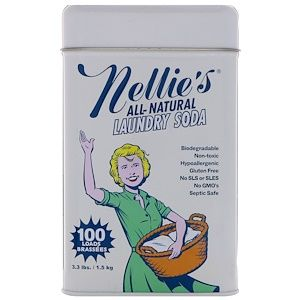 Nellie S All Natural Laundry Soda 100 Loads 3 3 Lbs 1 5 Kg