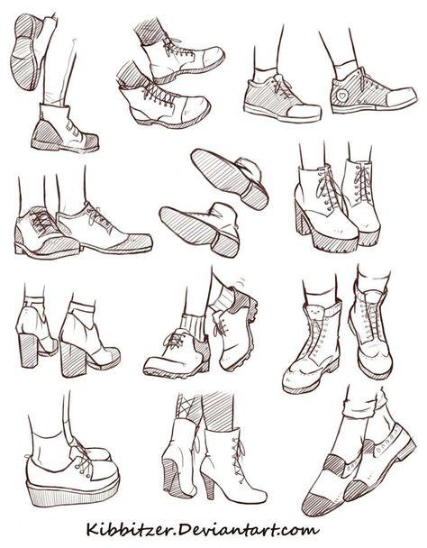 Fiche de référence des chaussures 2 - Cheveux