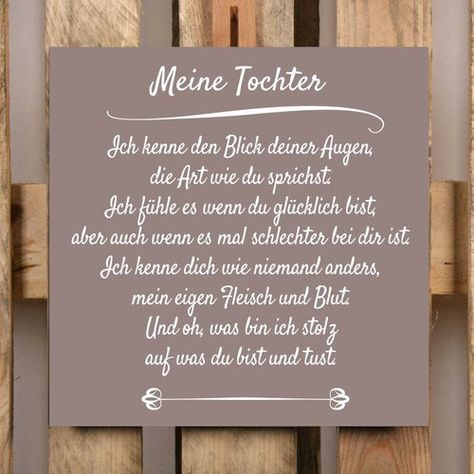 BD-Meine Tochter Typography Plaque Set in Taupe (Set of 2) East Urban Home