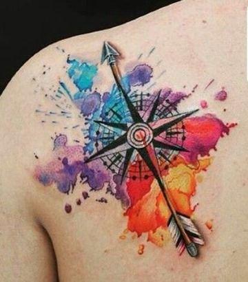 Inspirate Con Estos Tatuajes De Brujulas A Color Tatuajes