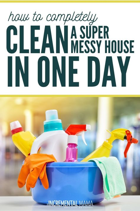 How to clean your messy house FAST. From disgusting mess, to clean and relaxing in just one day. Free printable checklist plus useful cleaning hacks to KEEP your house clean! Speed Cleaning, Cleaning Day, Deep Cleaning Tips, Toilet Cleaning, Diy Cleaning Products, Spring Cleaning, Cleaning Hacks, Organizing Tips, Messy House