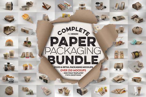 BUNDLE: Paper Packaging Mockup