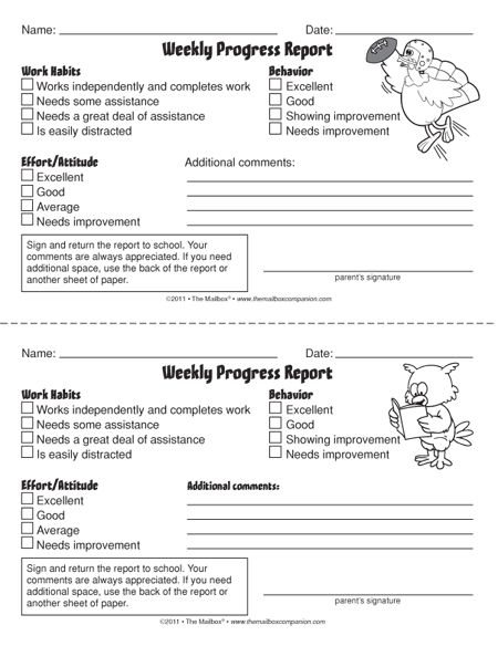 Cele mai bune 25+ de idei despre Mailbox magazine pe Pinterest - progress report template for students