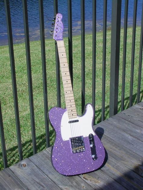 I think this one is a warmoth project. Guitar Shop, Music Guitar, Cool Guitar, Playing Guitar, Acoustic Guitar Art, Purple Guitar, Fender Telecaster, Telecaster Custom, Cool Electric Guitars