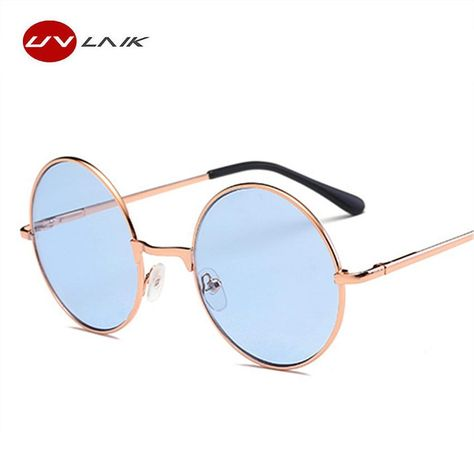 67365e25229bc UVLAIK Pink Sunglasses Harry Potter Hippie Women Men Round Metal Glasses  Female Male Sun Glasses Goggles