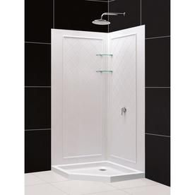 Dreamline Qwall 4 White Acrylic Wall Floor Neo Angle 2 Piece