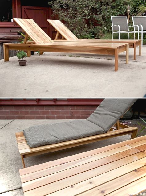 DIY Outdoor Chaise Lounge  FREE PLANS at buildsomething Wood - fresh blueprint for building a bench