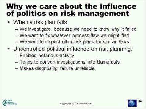 The Organizational Politics Of Risk Management  Youtube