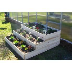 Eden 17 5 In W X 48 In L X 48 In H Wood Raised Garden Bed At Lowes Com With Images Raised Garden Beds Raised Garden Garden Beds