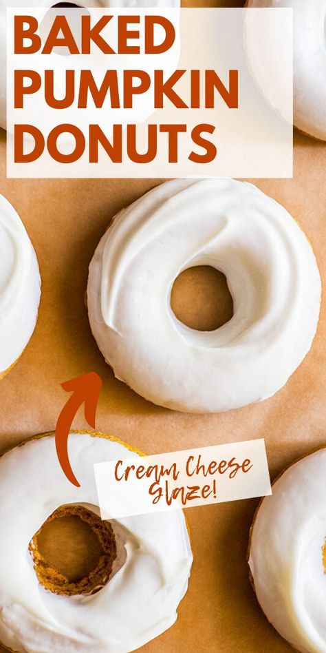 Baked Pumpkin, Pumpkin Recipes, Fall Recipes, Pumpkin Spice, Sweet Recipes, Holiday Recipes, Baked Doughnuts, Baked Donut Recipes, Delicious Desserts