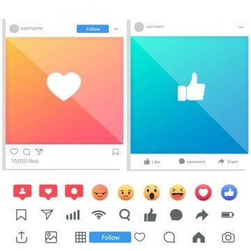 Facebook E Instagram Y Un Conjunto De Iconos Y Emoji Social Foto Red Png Y Vector Para Descargar Gratis Pngtree Instagram Iconos Conjunto De Iconos
