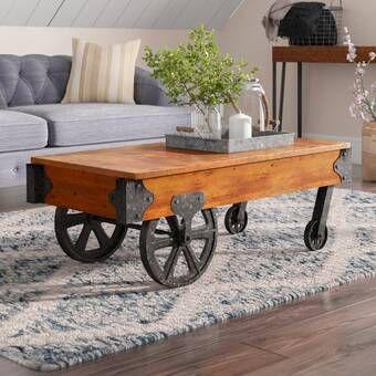 Loon Peak Schafer Coffee Table Wayfair Cart Coffee Table Coffee Table Inspiration Coffee Table