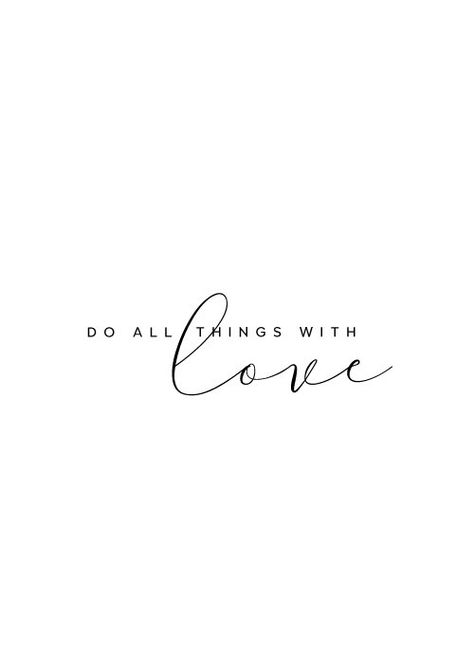 Do all things with love Inspirational Quote Wall decor