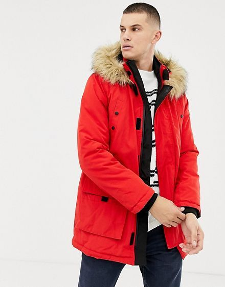 Red Parka Jacket Mens