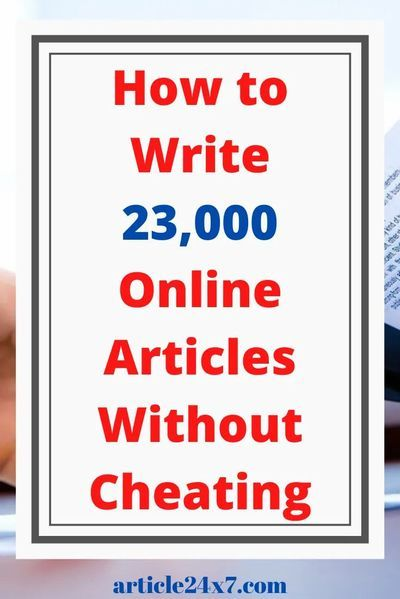 How To Start Writing Articles That Gets Read - Article 24x7