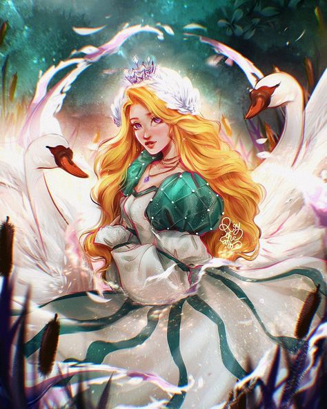 """ROY THE ART on Instagram: """"✦ DISNEY FANART VOL2:  ODETTE ✦  Odette is the main character in The Swan Princess, an animated musical based on the ballet Swan Lake, but…"""""""