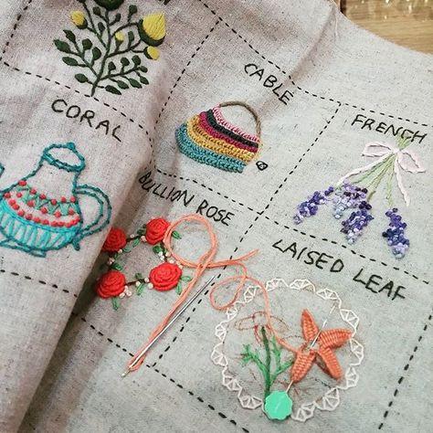 #Embroidery#stitch#needlework#stitch book #프랑스자수#일산프랑스자수#자수#스티치북 #빈티지느낌의 MY 님…