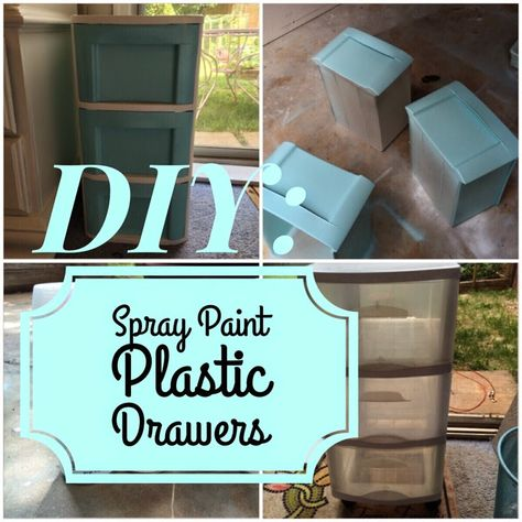 DIY: Plastic Drawers Makeover   Live To Love DIY I'm definitely going to do this to my ugly green plastic drawers from undergrad                                                                                                                                                      More