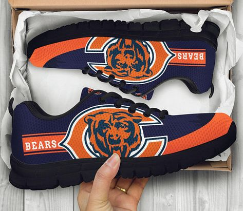 Chicago Bears Fan Made ShoesSneakersTrainers For Ladies